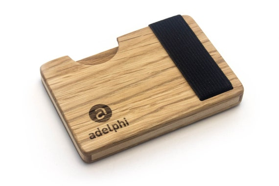 High Quality Credit Card Holder Made Of Wood Akazie Credit Card Holder With Lock Minimalist Design