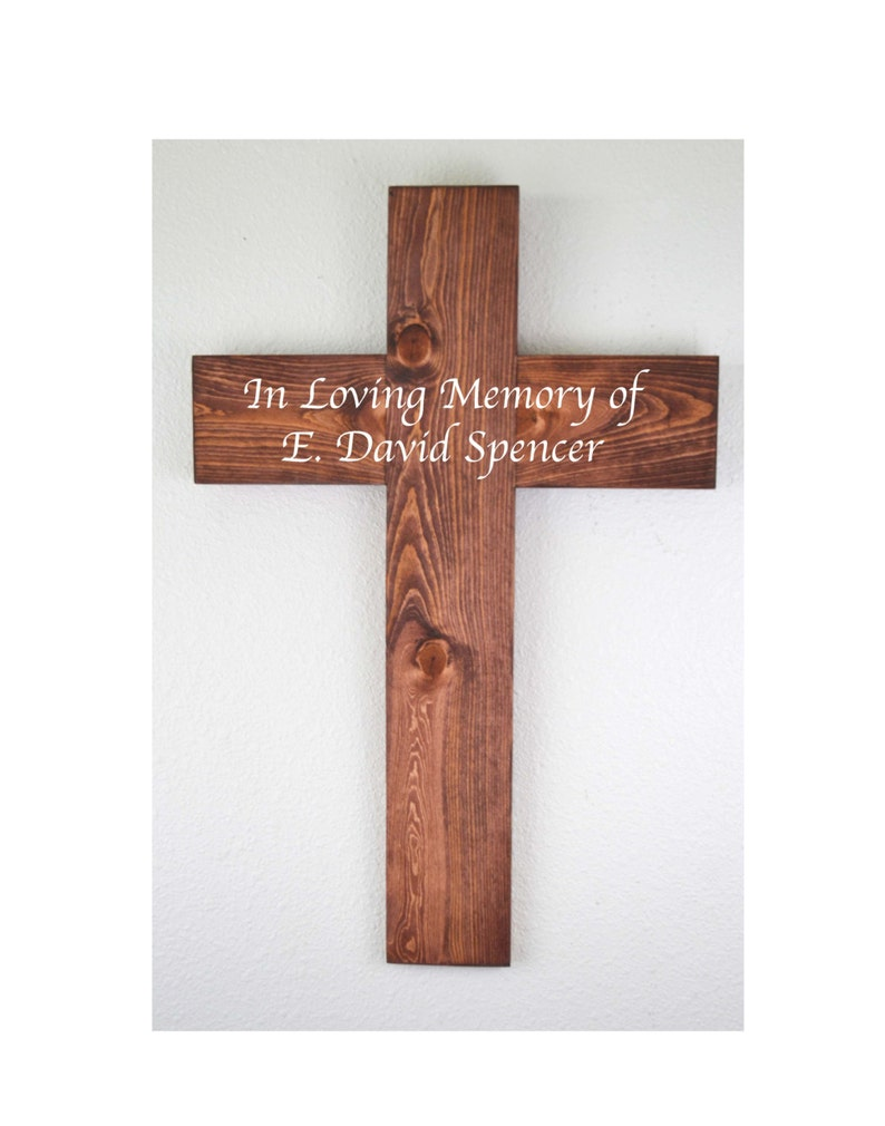 Large Wooden Cross Crucifix Memorial Baptism Mothers Day Gift Housewarming Gift Rustic Decor Confirmation Gift