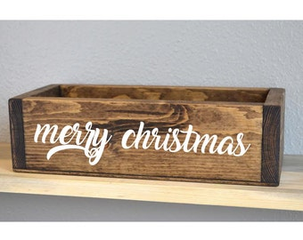Christmas Decor Box, Christmas Decor, Holiday Decorations, Centerpiece Box, Gift for Her