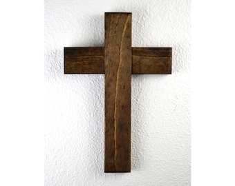 wooden cross, crucifix, Rustic wooden cross, home decor, housewarming gift, Mother's Day gift, baptism, confirmation gift, communion