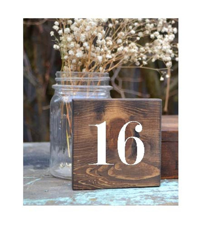 Wood Table Numbers Table Numbers Wood Wooden Table Numbers image 0