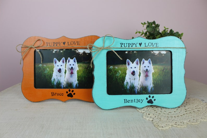 Pet Memorial Frame Puppy Love Personalized Picture Frames Pet Loss Family Pet Dog Picture Frame Fur Baby Decor