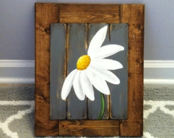 Beau Framed Daisy Painting, Gerbera Daisy Framed Art, Kitchen Farm House Decor,  Farm House Decor, Framed Daisy Painting, Daisy Motheru0027s Day Gift