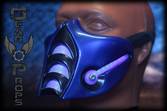 Sub Zero 9 Mask With Led Light And Metal Mesh Mortal Kombat Etsy