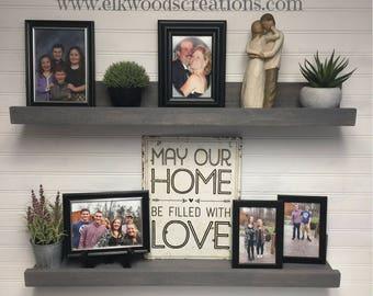 Picture Ledge, floating shelves 12-60 inches long, wall shelf,wooden shelves, country home decor, book shelf, photo shelf, rustic home decor