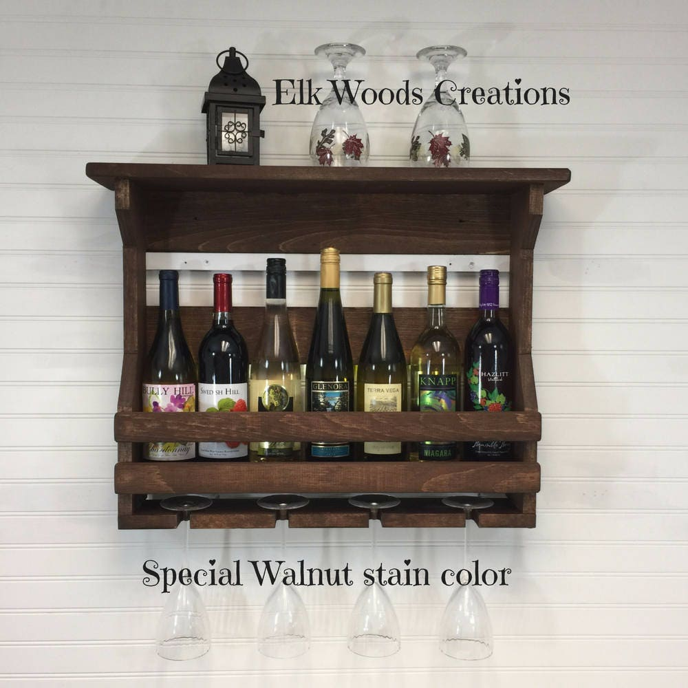 Wooden Wine Rack Wall Mounted Wine Rack Handmade Rustic Home