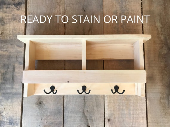 Coat Rack with Shelf | Coat Rack with Storage | Coat Rack with Cubbies | Wall Organizer with Hooks |Choose from 10 Colors | Hanging Shelf