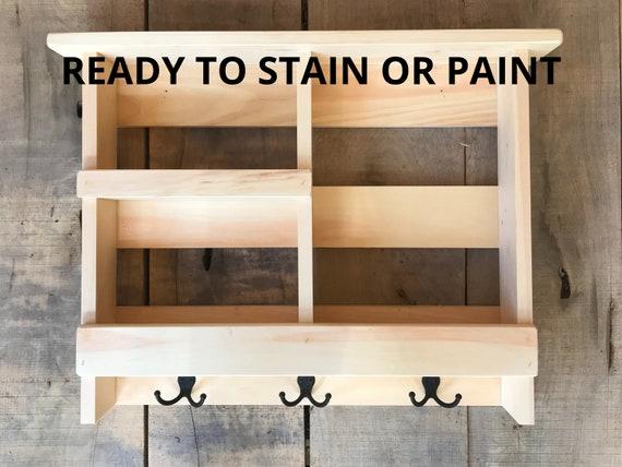Bathroom Storage Shelf with Storage  | Wall Organizer with Cubbies | Bathroom Cabinet | Bathroom Wall Organizer | Rustic Bathroom Decor