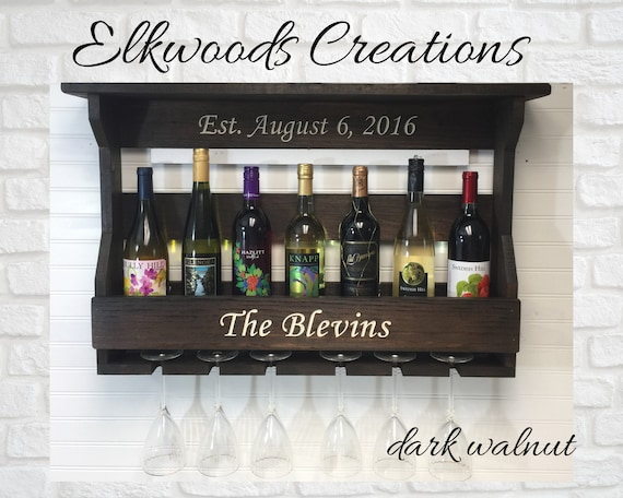 Personalized Wine Rack | Wooden Wine Rack Engraved | Custom Gift | Engraved Gift | Housewarming Gift | Shower Gift