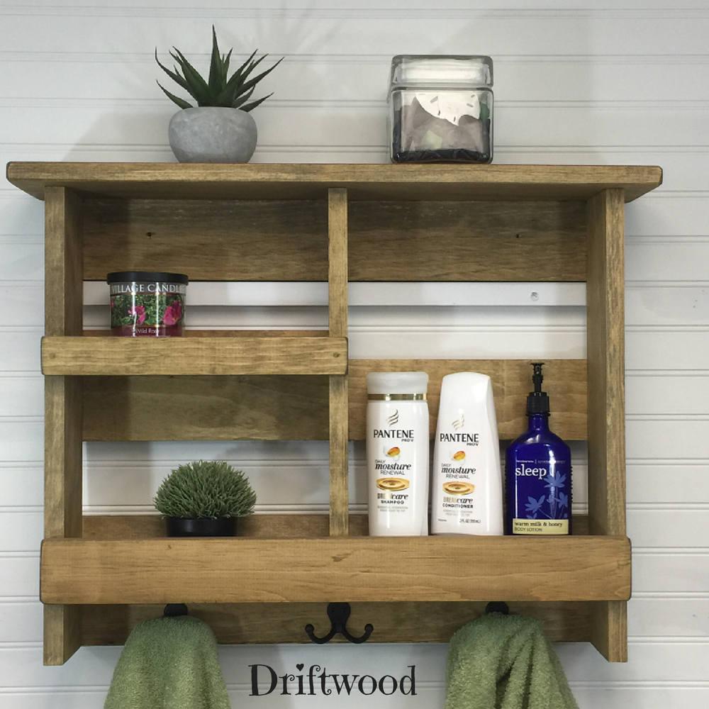 Bathroom Shelf | Rustic Bathroom Shelf | Bathroom Organizer | Rustic ...