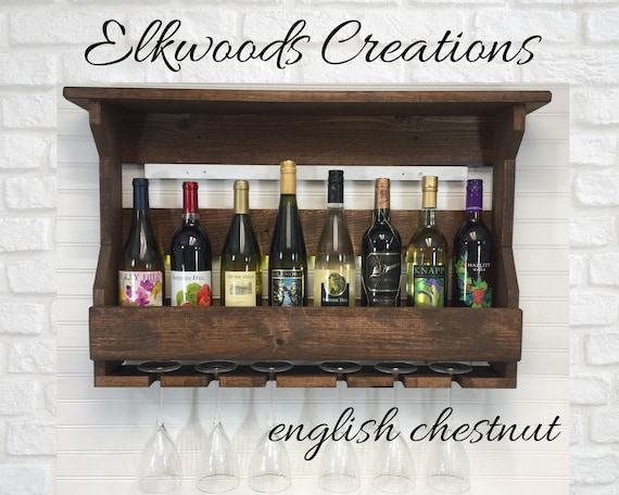 Wine Rack| Wall Mounted Wooden Wine Rack| Handcrafted Wine Rack| Wall Mount Wooden Wine Rack| Wine storage| 5th Anniversary| Wedding Gift