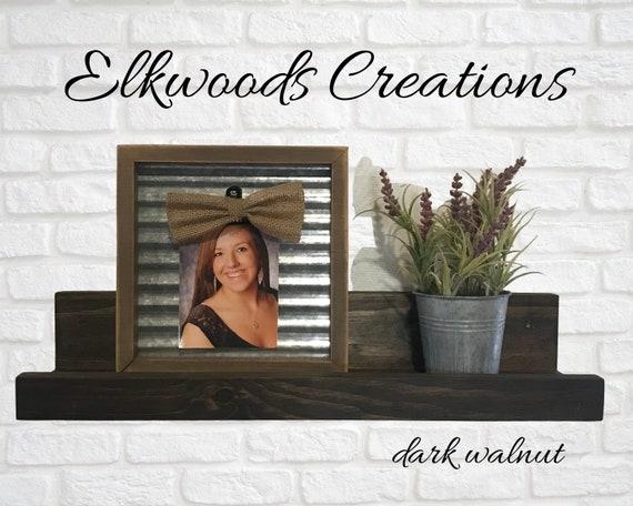 Picture Ledge Shelf 18 Inches | Rustic Wooden Floating Picture Ledge | Photo Shelf | Wall Shelf | Dorm Shelf | Gallery Shelf | Rustic Decor