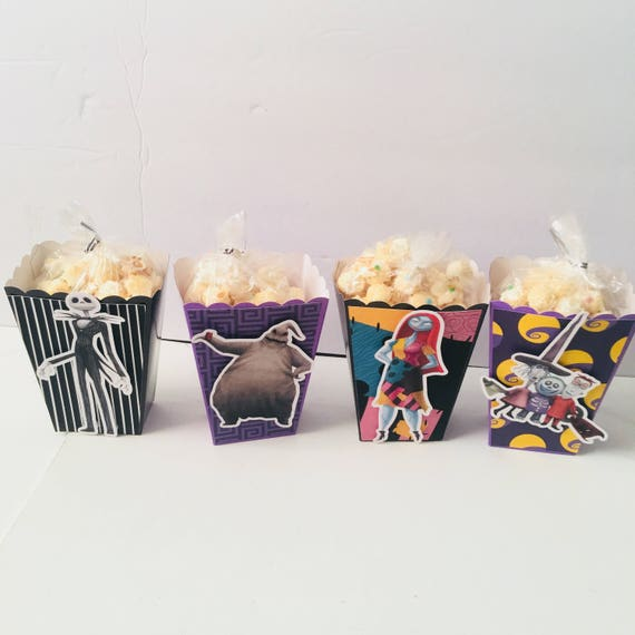 Nightmare Before Christmas Popcorn Boxes Treat Boxes Favor Etsy