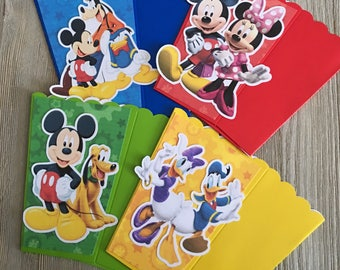 Mickey Mouse Club House Minnie Donald Goofy Daisy Pluto | Popcorn Boxes, Treat Boxes, Favor Boxes, Goody Boxes, Snack Boxes, 12 Boxes