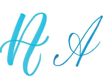 How to Write the Capital Alphabet (2 Styles) in Brush Lettering - Instant Download