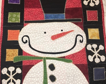 Snowman Quilted Wall Hanging