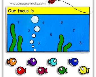 Magnetic fish reward chart