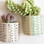 Succulent Ceramic Magnet | Clay Planter Magnet | Magnetic Ceramic Vase | Handmade Pot | Refrigerator Holder Magnet | Kitchen Decor