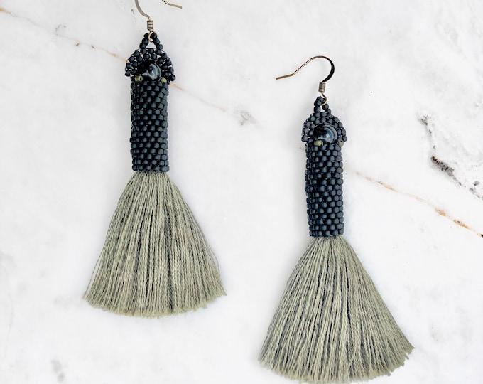 Whitefish Obsidian Earrings