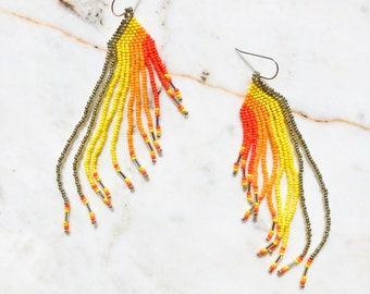 Marigold Silver Earrings