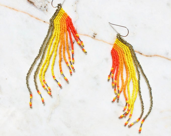 Marigold Silver Earrings