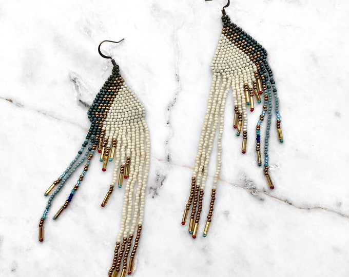 Marfa Fringe Ivory Earrings