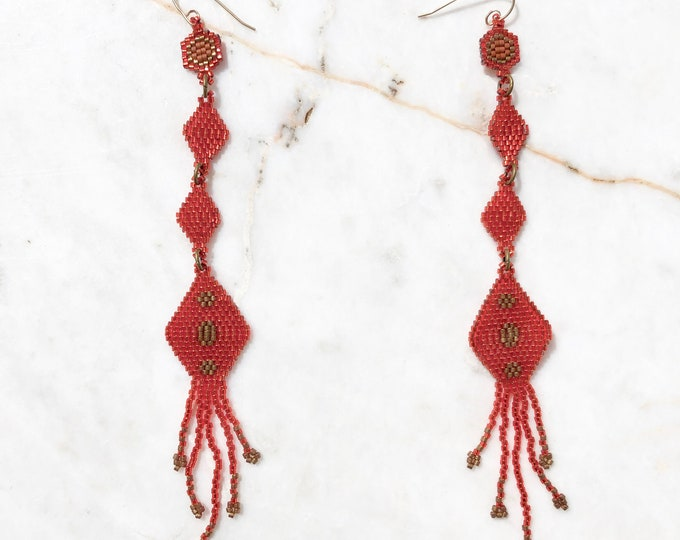 Frida Vermillion Earrings