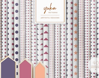Graphic Art /& Pattern Design Commercial Use Yuka Studio INSTANT DOWNLOAD Colorful Cupcakes