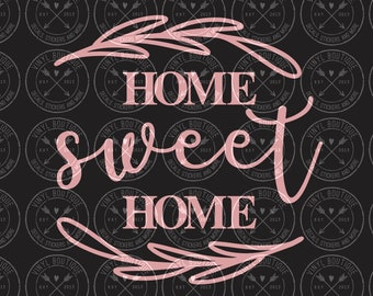 Home Sweet Home Farmhouse Style Vinyl Decal Sticker for Sign Decor
