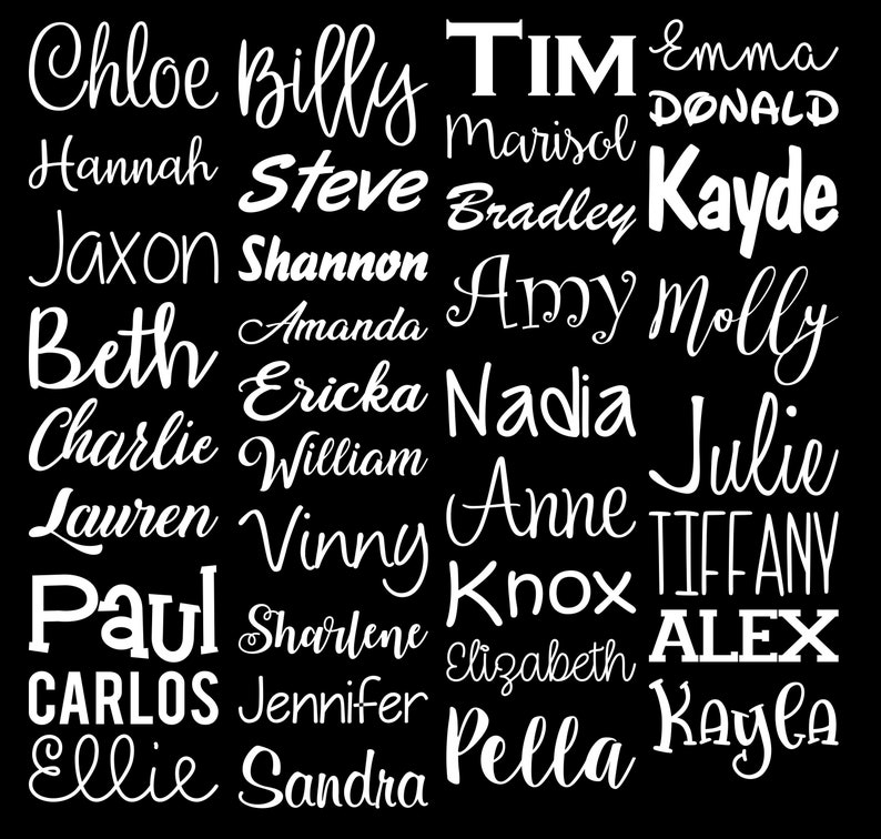 Personalized Name Any Word Text Vinyl Decal Sticker image 0