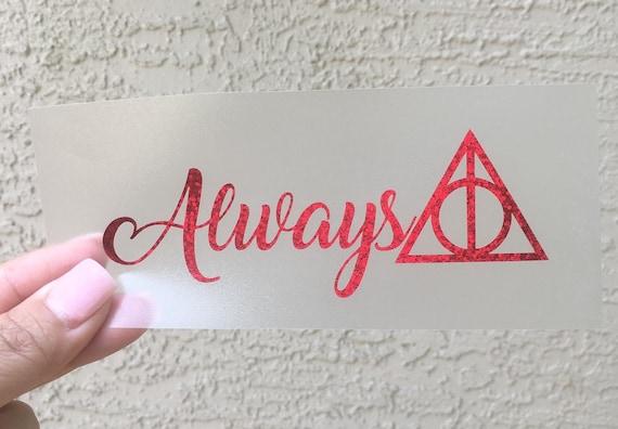 Always Harry Potter Deathly Hallows Inspired Symbol Vinyl Etsy