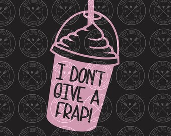 I don't give a frap funny decal sticker