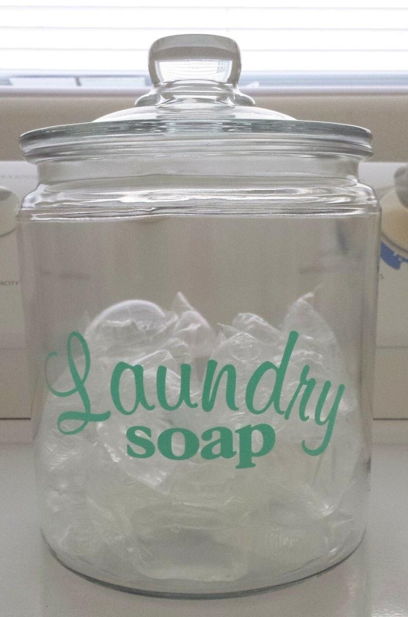 Laundry Soap Detergent Vinyl Decal Sticker image 0