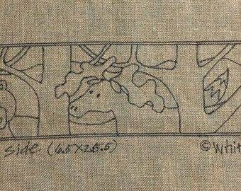 Whimsy Rugs Rug Hooking Pattern - The Wild Side - 6.5 x 25.5 - Monks Cloth or Linen