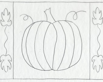 Whimsy Rugs Rug Hooking Pattern - Prized Pumpkin - Two Sizes - Scottish Linen or Monks Cloth