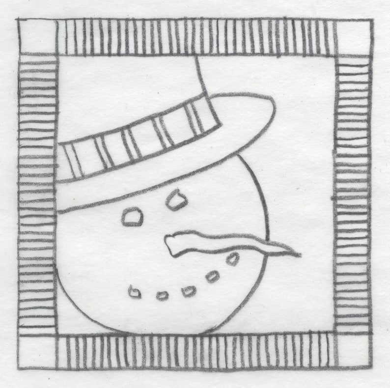 Whimsy Rugs Rug Hooking Pattern  Frosty Friend  Two Sizes  image 0