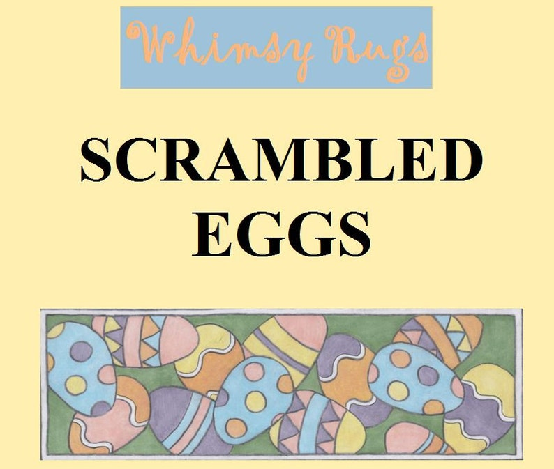 Whimsy Rugs Rug Hooking Pattern  Scrambled Eggs  Monks Cloth image 0