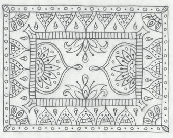Whimsy Rugs Rug Hooking Pattern - Moroccan Medley - Three Sizes - Monks Cloth or Linen