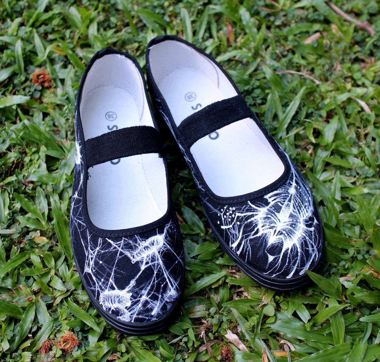 les peinte la chaussures occasionnel groupe loisirs à noires main gRgqZw