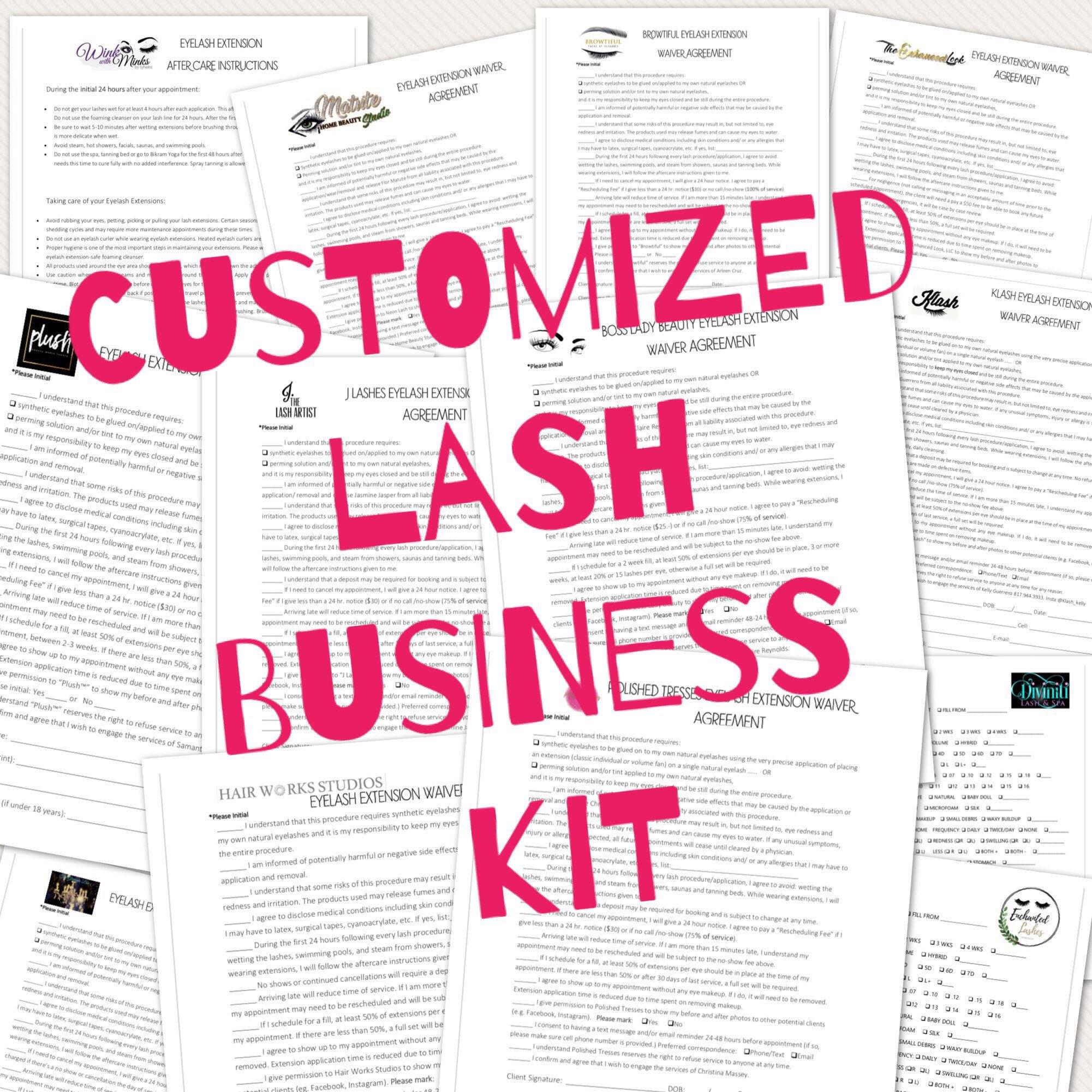 Eyelash Extensions Lash Business Custom Kit Add Your Logo Etsy