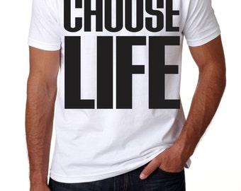 CHOOSE LIFE, George Michael replica t-shirt retro '80
