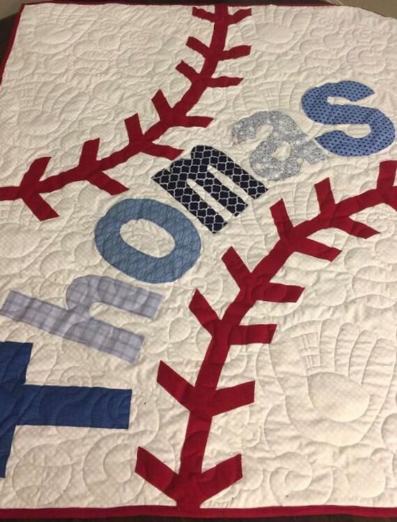 Baseball Quilt Etsy Impressive Baseball Quilt Pattern