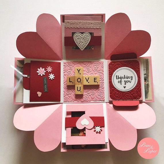 Love Explosion Box Love Exploding Box Surprise Exploding Etsy