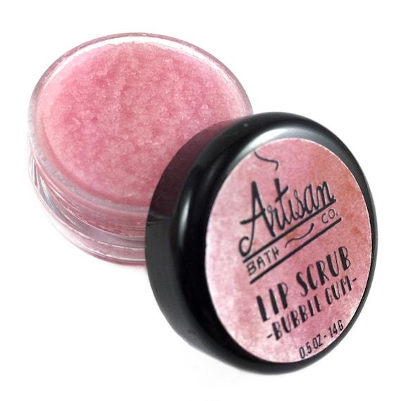 Lip Scrub Bubblegum Lip Scrub Lip Exfoliant Lip Sugar Etsy