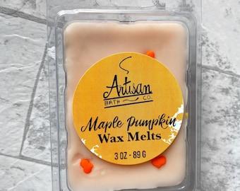 Maple Pumpkin Wax Melts | Fall Scent | Strong Hot Throw