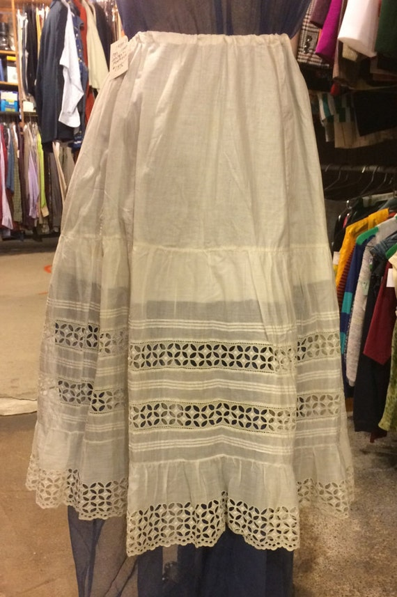 Vintage 1880s Victorian Skirt/Petticoat