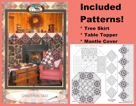 649404be41f46 Christmas Trio Quilt Patterns Great Christmas Gift: Tree | Etsy