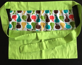 Pear and Apple Retro half apron