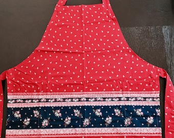 Red and Blue Full Apron