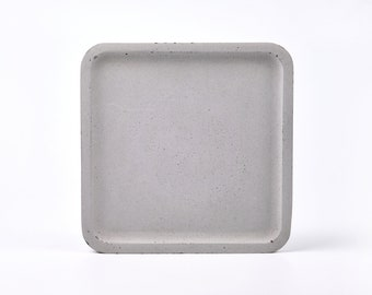 Concrete tray / dish / coaster / accessory holder in Square shape (Large)